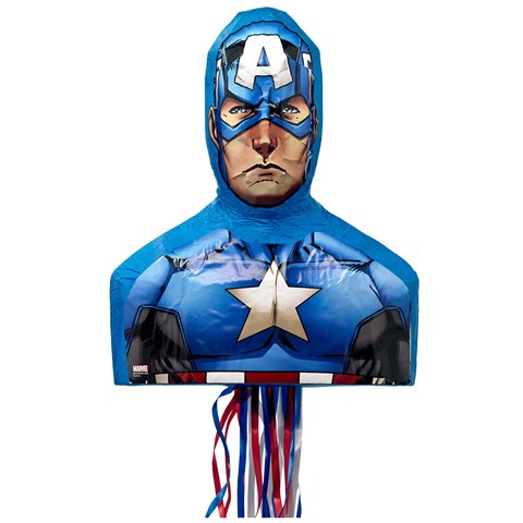 Captain America 3D Pull-String Pinata