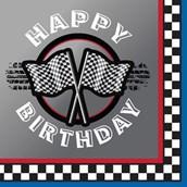 Racing Happy Birthday Lunch Napkins