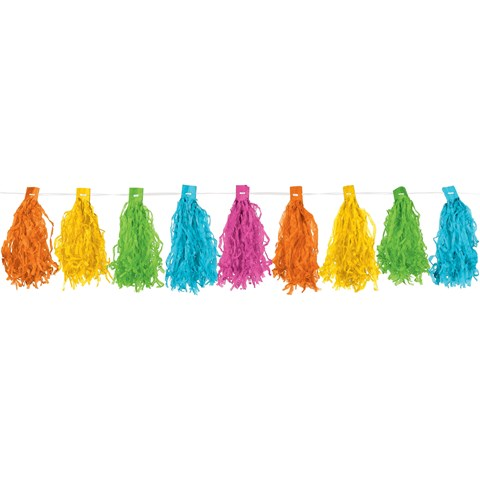 Pastel Paper Tassel Garland