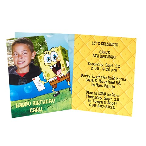 SpongeBob Personalized Invitations