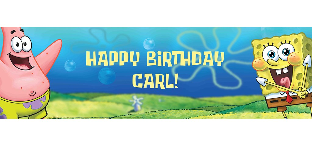 SpongeBob Personalized Banner