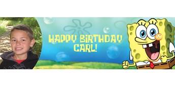 SpongeBob Personalized Photo Vinyl Banner