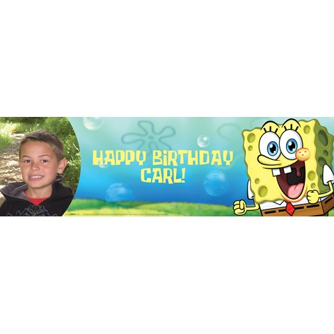 SpongeBob Personalized Photo Banner