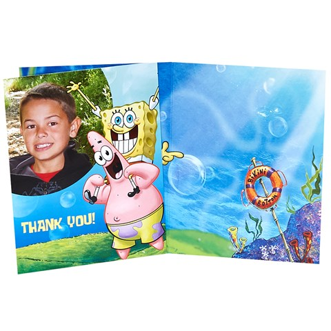SpongeBob Personalized Thank-You Notes