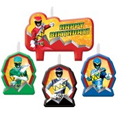 Power Rangers Dino Charge Birthday Candle Set