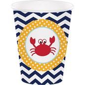 Ahoy Matey 9 Oz Cups (8)