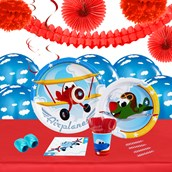 Airplane Adventure 16 Guest Tableware & Deco Kit