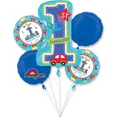 All Aboard 1st Birthday Balloon Bouquet