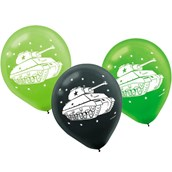 """Army Tank Camo 12"""" Latex Balloons (6 Pack)"""
