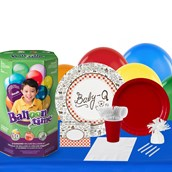 Baby-Q 16 Guest Party Pack and Helium Kit