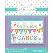 Baby Shower New Mommy Advice Cards (1)