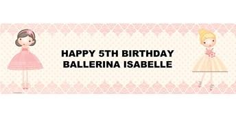 Ballerina Tutu Personalized Vinyl Banner