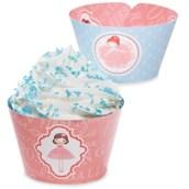 Ballerina Tutu Reversible Cupcake Wrappers