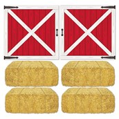 Barn Loft Door and Hay Bale Props Add-Ons