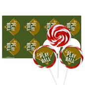 Baseball Time Deluxe Lollipop Favor Kit