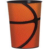 Basketball 16oz Plastic Favor Cup (1)