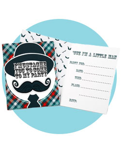 invites - Mustache Party Invitations