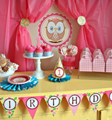 Look Whoos 1 1st Birthday ideas