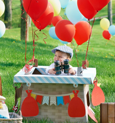 Hot Air Balloon 1st Birthday Party
