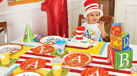Dr Seuss ABC 1st Birthday Party