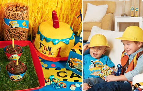 Construction Pals 1st Birthday Lifestyle Photos