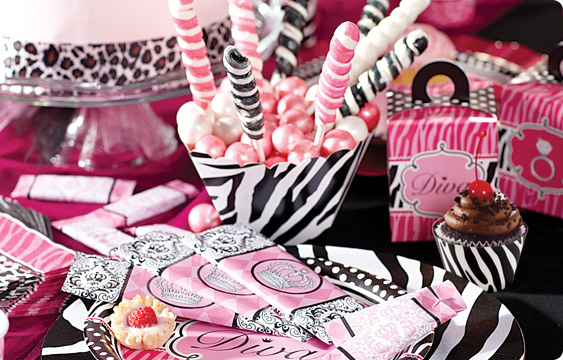 Diva zebra print party supplies for Animal print decoration party
