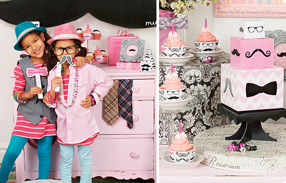 Pink Mustache Lifestyle Photos
