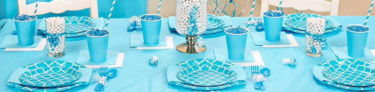 Blue Party Decorating Ideas solid color & pattern party supplies | birthdayexpress