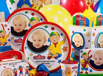 Caillou Personalized Party Supplies