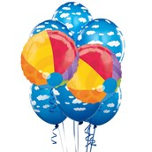 Beach Ball 8 pc Balloon Kit