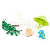 Beach Chair & Umbrella Cake Decorations (6 Pieces)