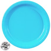 Bermuda Blue (Turquoise) Paper Dinner Plates