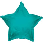 Bermuda Blue (Turquoise) Star Foil Balloon