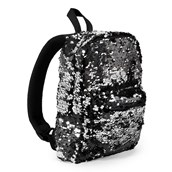 Black & Silver Sequin Mini Backpack