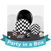 Black and White Check Party in a Box