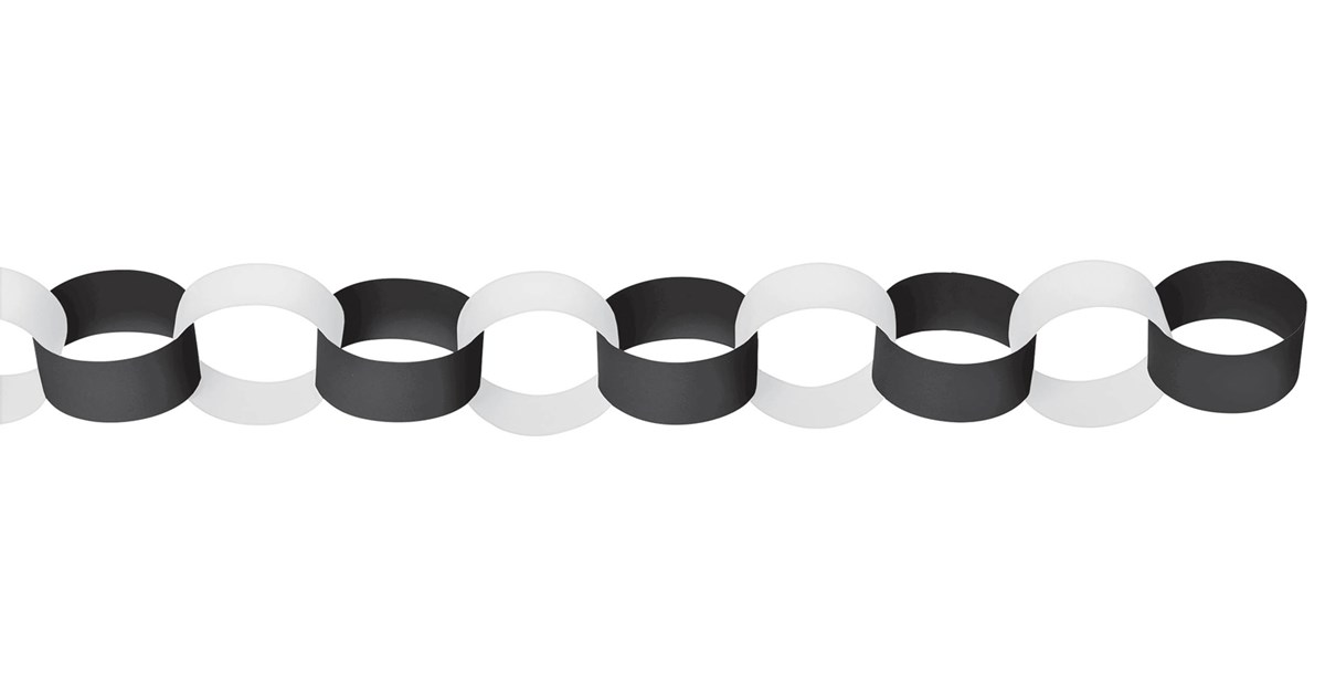 Black Amp White Paper Chain Link Garland Birthdayexpress Com
