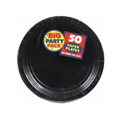 Black Big Party Pack Dessert Plates