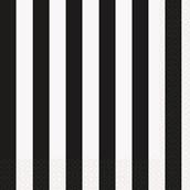 Black Stripe Lunch Napkins