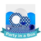 Blue and White Dots Party in a Box