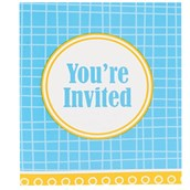 Blue and Yellow Invitations (8)