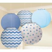 Blue Chevron & Dot Decorating Kit