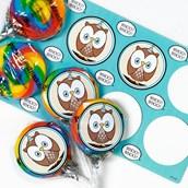 Blue Owl Lollipop Favor Kit