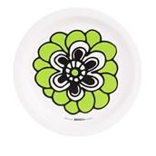 Bold Geometric Green Flower Dessert Plate (8)