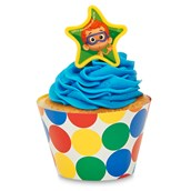 Bubble Guppies Cupcake Wrapper & Pick Kit