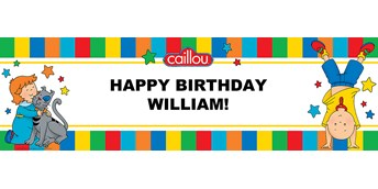 Caillou Personalized Vinyl Banner