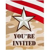 Camo Army Soldier Invitations