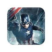 Captain America Civil War Square Dessert Plates (8)