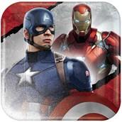 Captain America Civil War Square Dinner Plates (8)