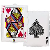 Casino 2-sided Card 30 Balloon (1)