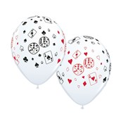 """Casino Cards & Dice 11"""" Latex Balloons (50 Pack)"""